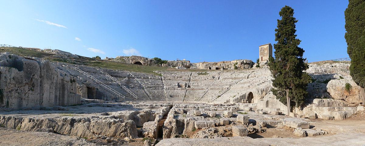 Het Griekse theater in Syracuse