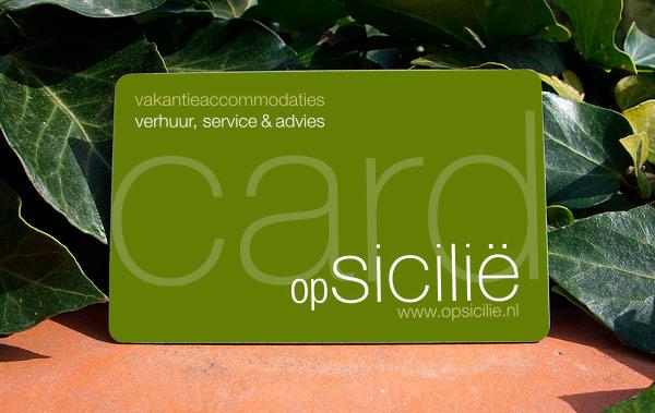 De opSicilie card van opsicilie.nl