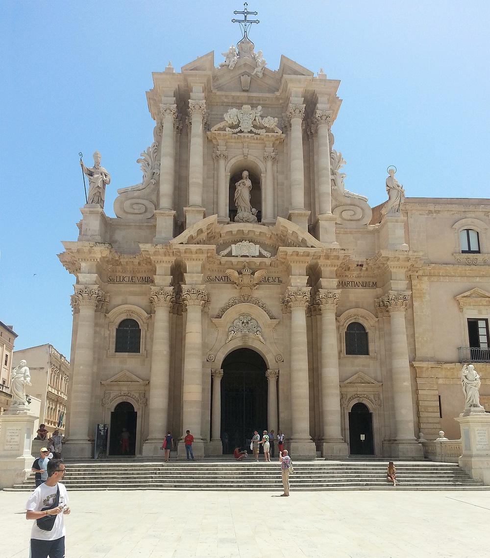 De kathedraal van Syracuse op Sicilië