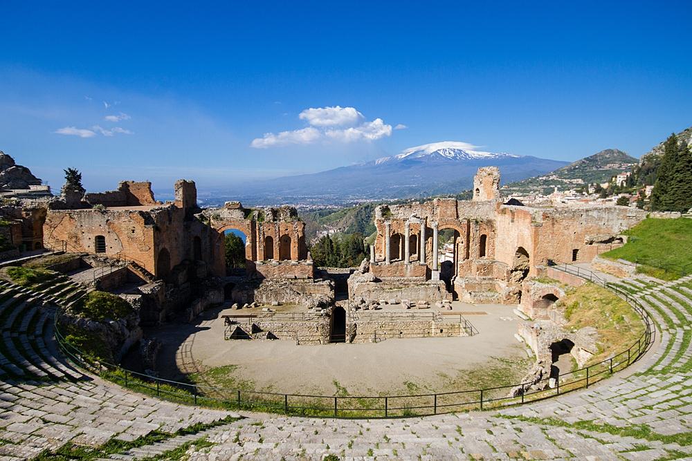 Het Griekse theater in Taormina