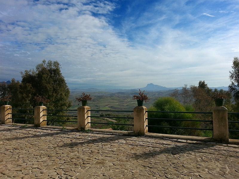 Het uitzicht bij wijnproducent Feudo Disisa