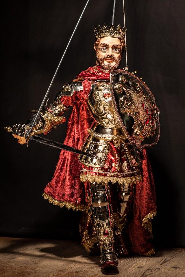 Carlo Magno (Karel de Grote), gemaakt door pupari in Syracuse op Sicilië