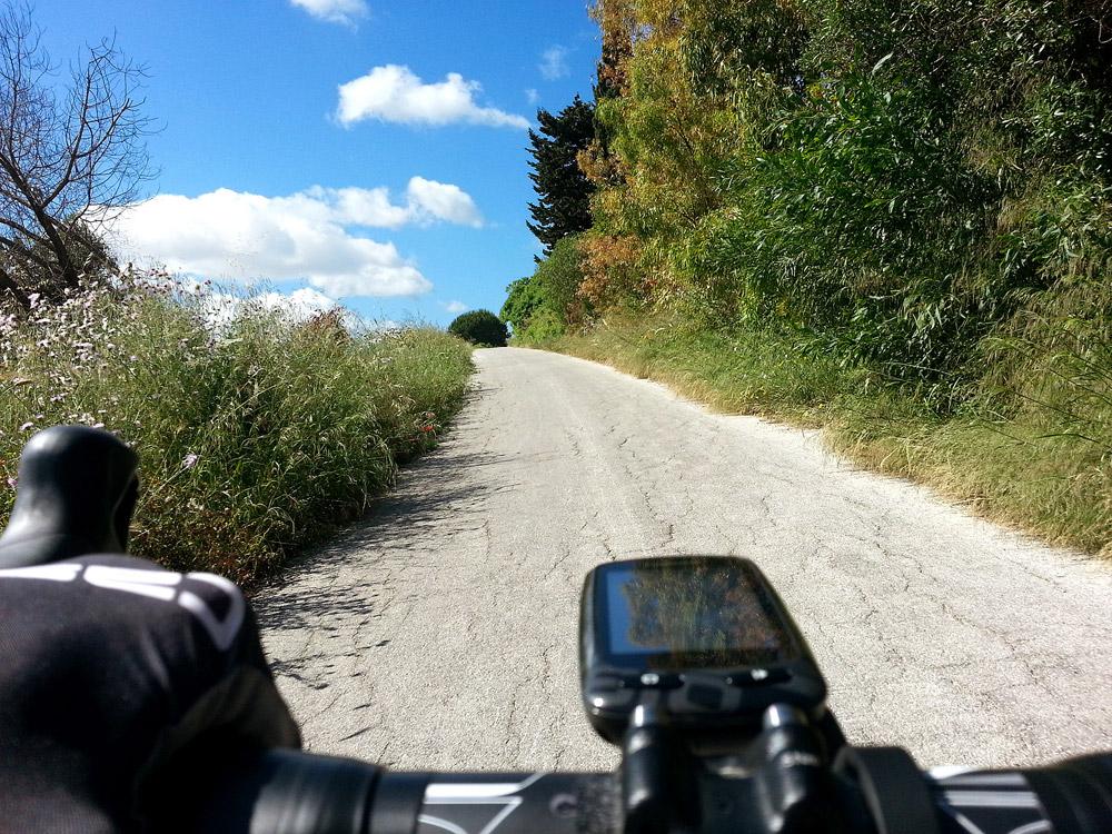 Op de racefiets naar Pianto Romano op Sicilië