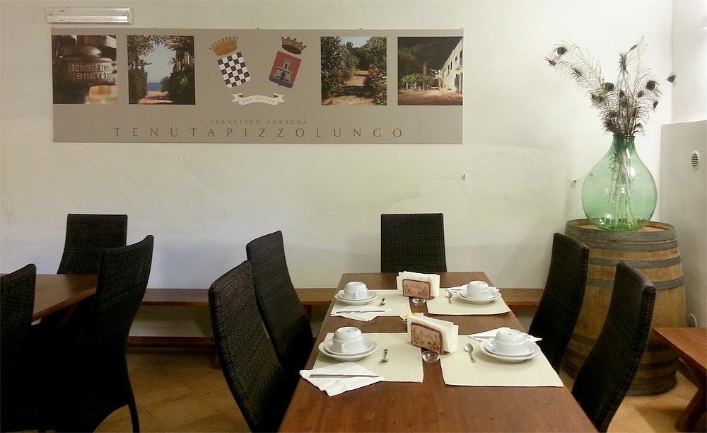 De ontbijtzaal van Tenuta Pizzolungo
