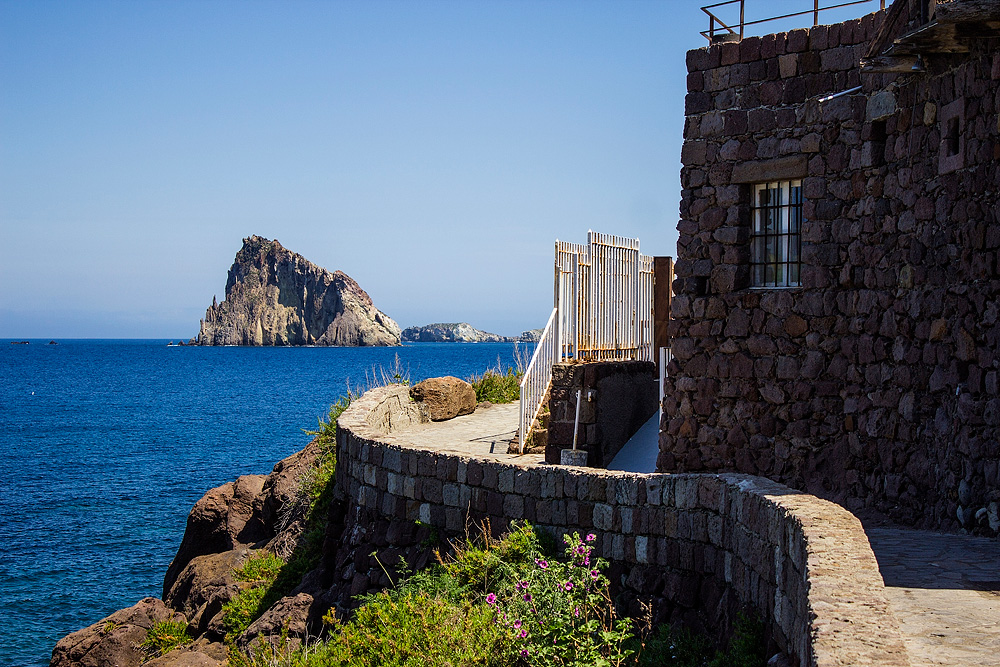 On the island of Panarea, near discotheque Raya