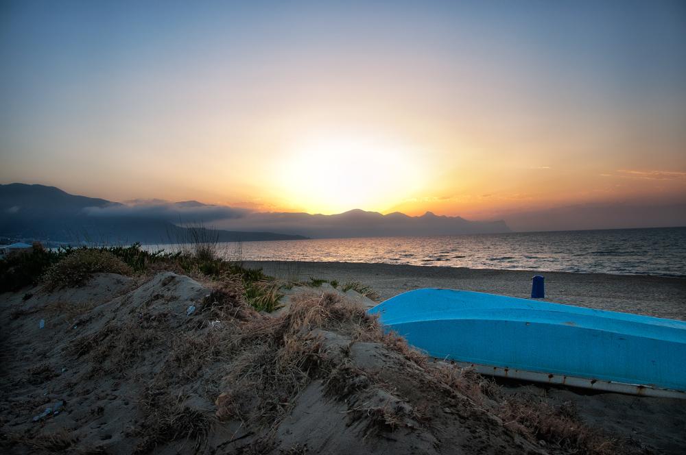 Zonsondergang gezien vanaf Alcamo Marina