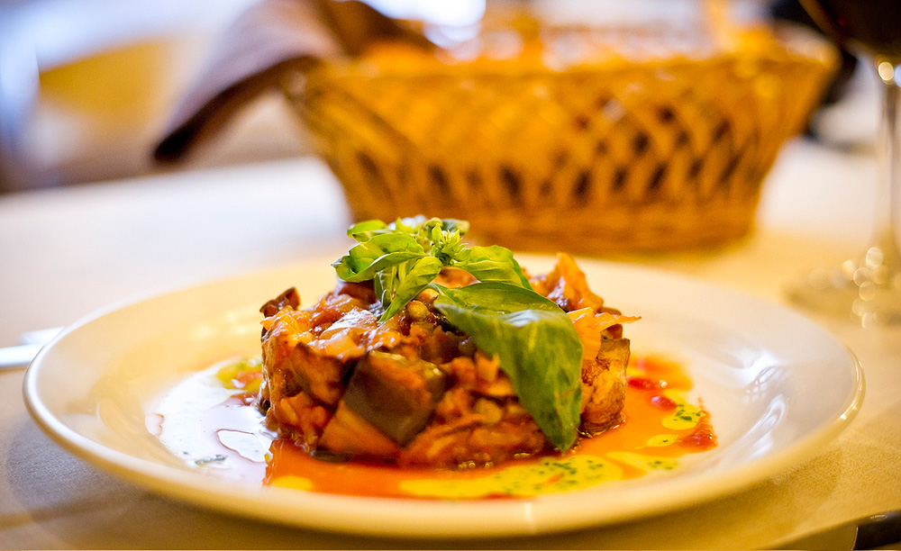 Sicilian caponata at ristorante ex panificio