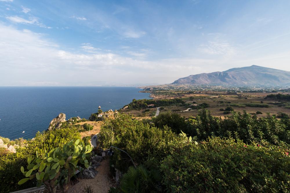Uitzicht vanaf Scopello