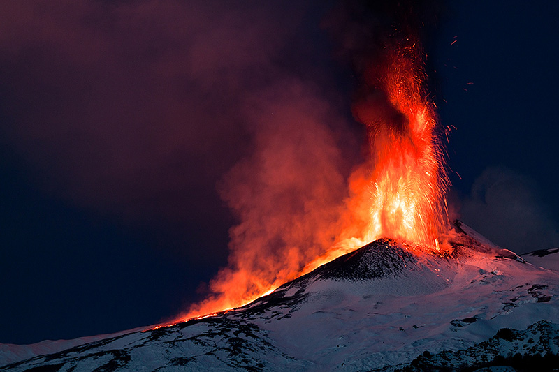 A colorful sight on Mount Etna