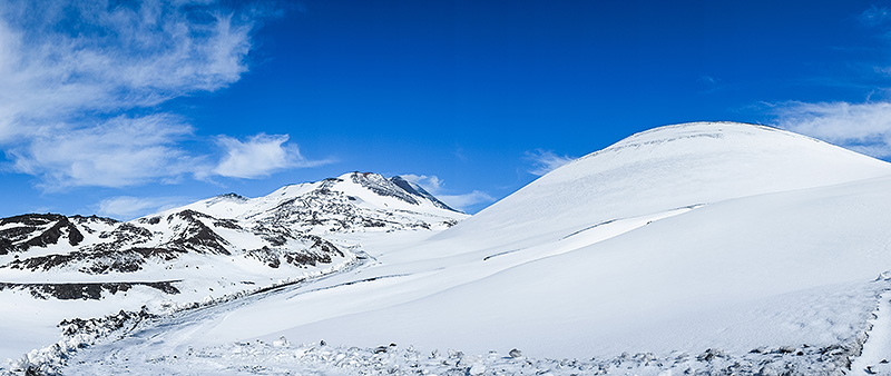 A beautiful winter landscape on the Sicilian volcano