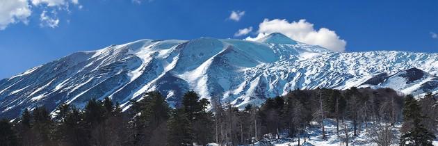 De Etna in de winter