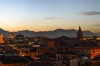 De skyline van Palermo