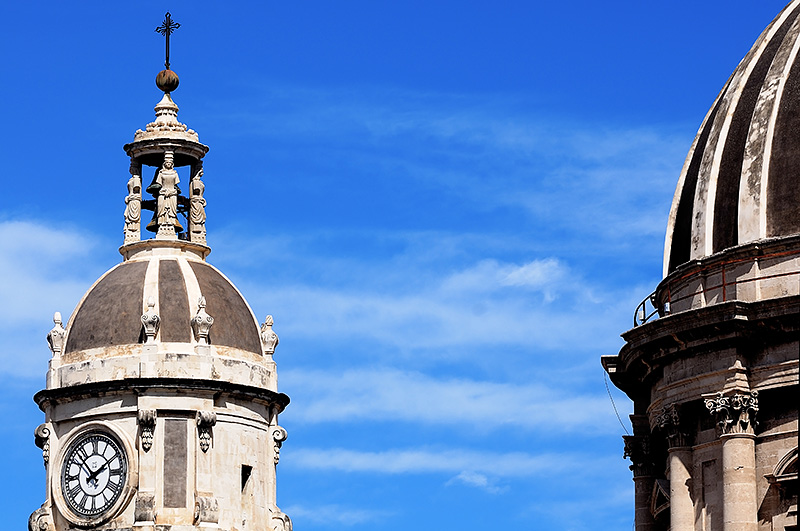 The cupolas of the cathedral of Catania