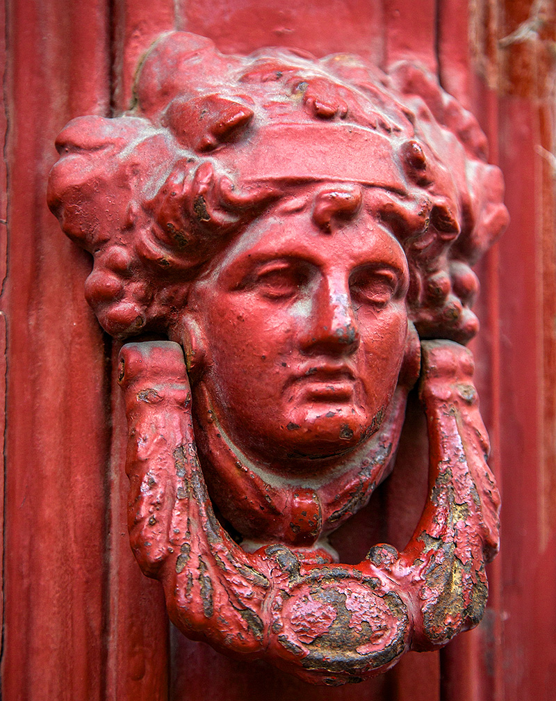 A door knocker in Catania