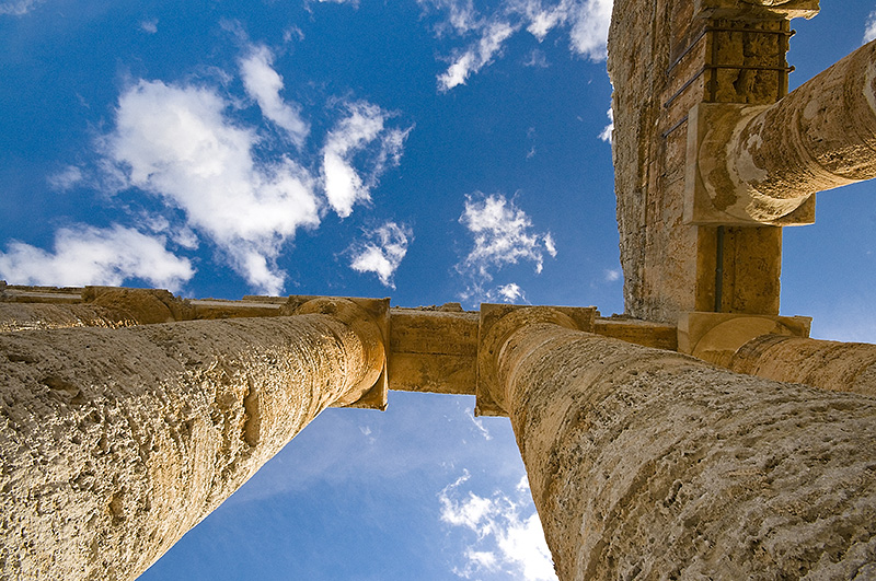 A beautiful, blue sky above the Temple of Segesta