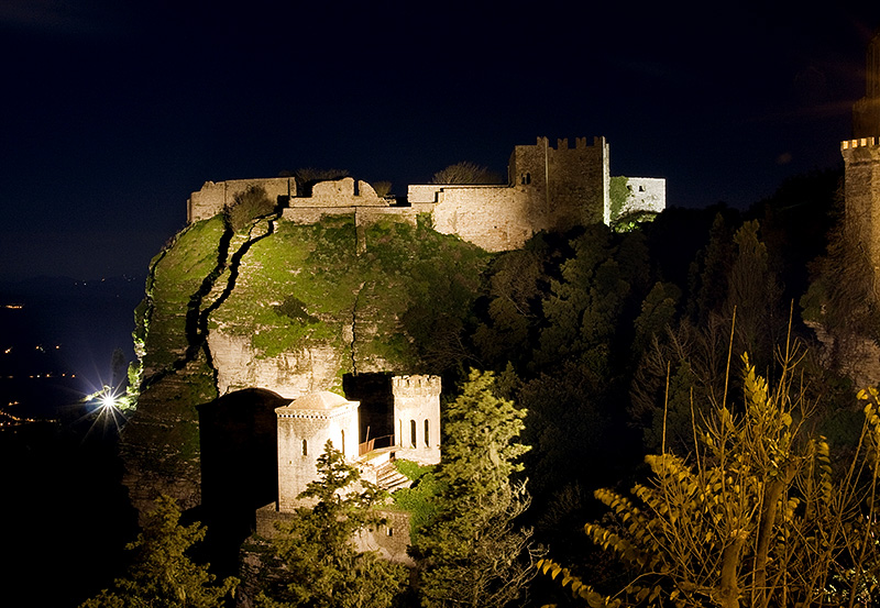 The castle of Venus and the Torretta Pepoli in Erice