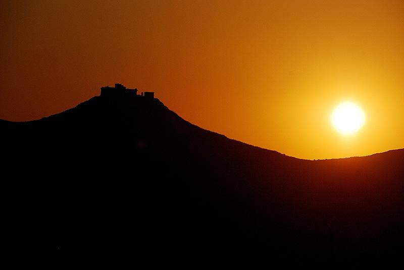 Sunset near the castle of Favignana