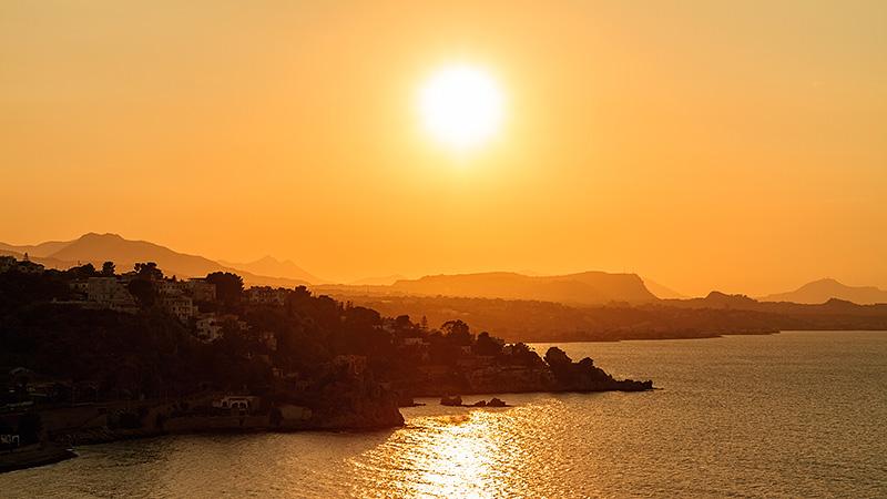 A sunset near Palermo
