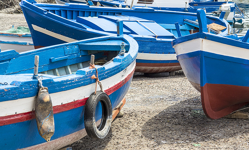 Typical Sicilian fishing boats