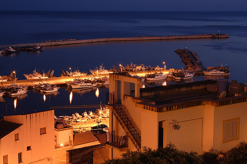 Fishing boats in the harbor of Sciacca