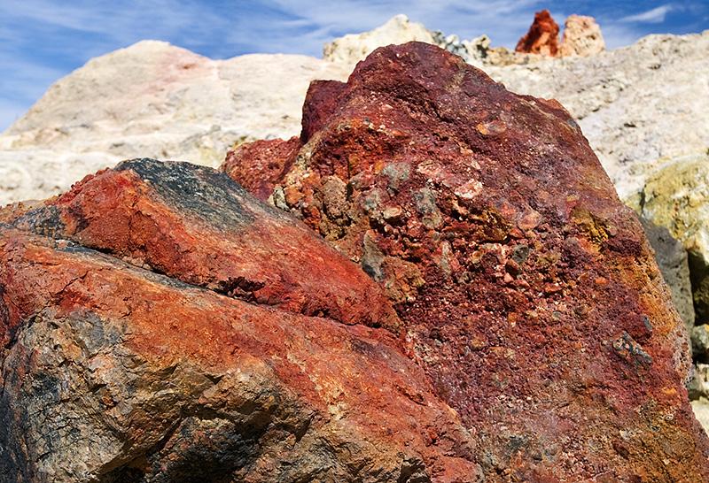 Volcanic rocks on the island of Vulcano