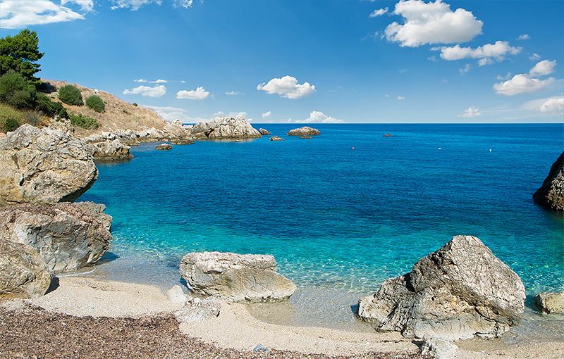 The beach near Scopello