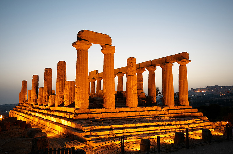 The temple of Juno in Agrigento