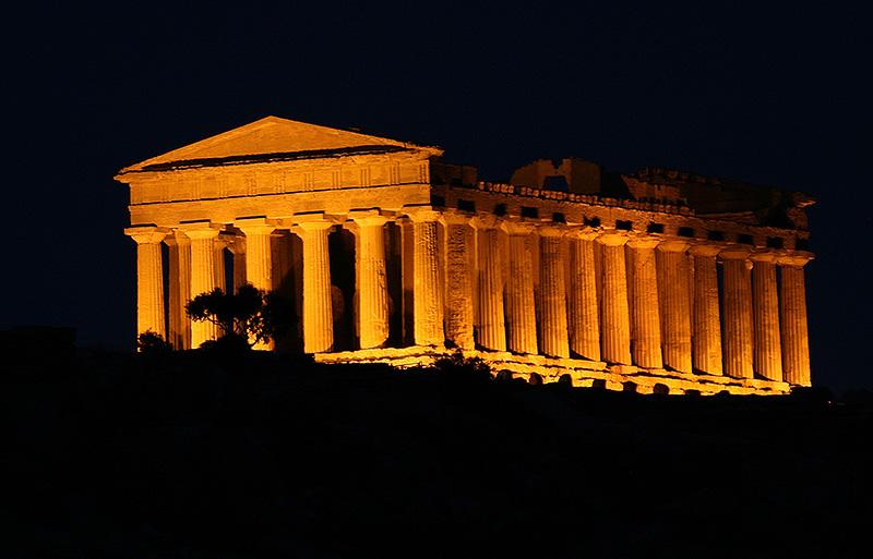 De Concordia tempel in de Vallei van de tempels