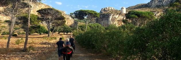 Een tochtje met ezeltjes op het landgoed van Tenuta Pizzolungo
