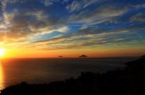 Zonsondergang op Sicilië