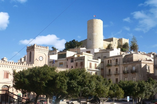 The castle of Salemi in the province of Trapani in Sicily  - 4060