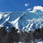 Mount Etna in the snow