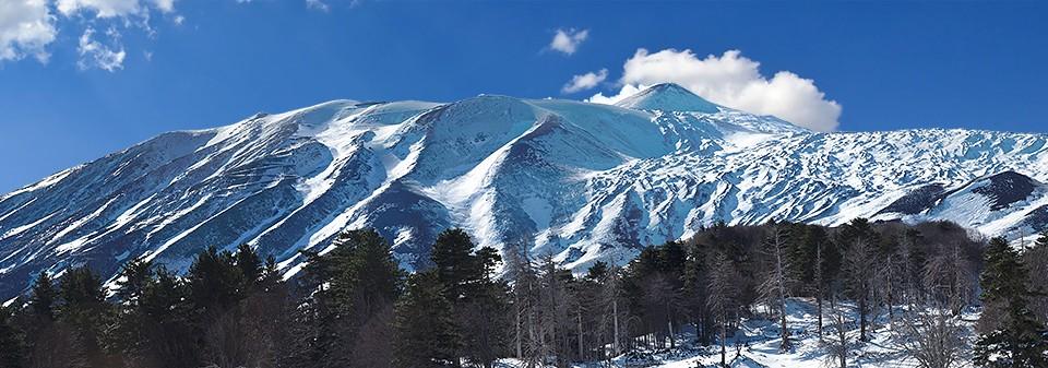Mount Etna in the winter